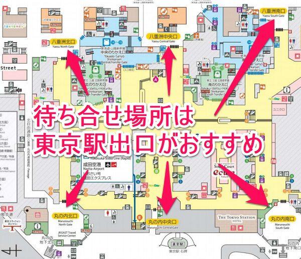 東京駅の出口